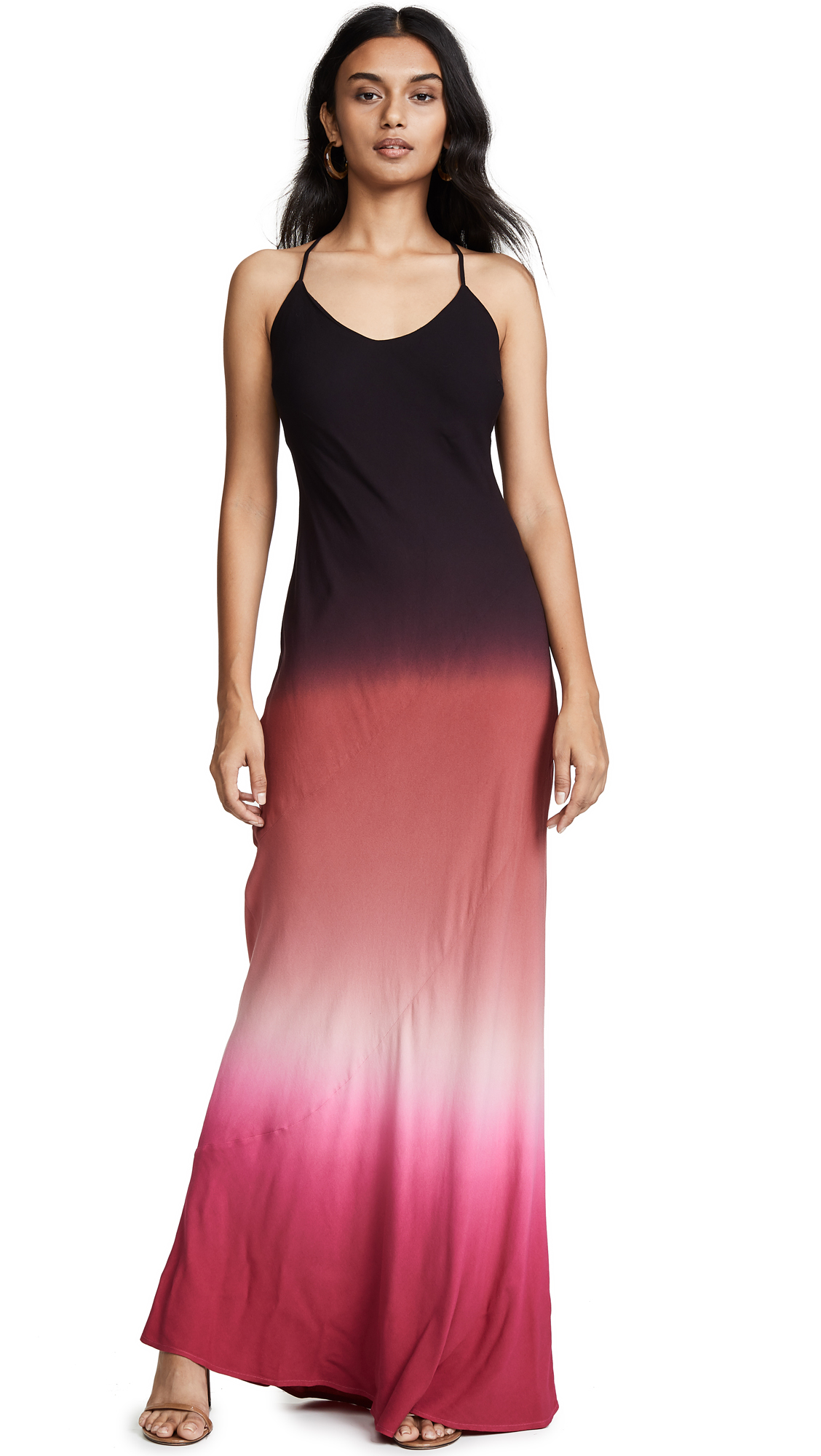 YOUNG FABULOUS & BROKE Romee Maxi Dress in Ruby Ombre