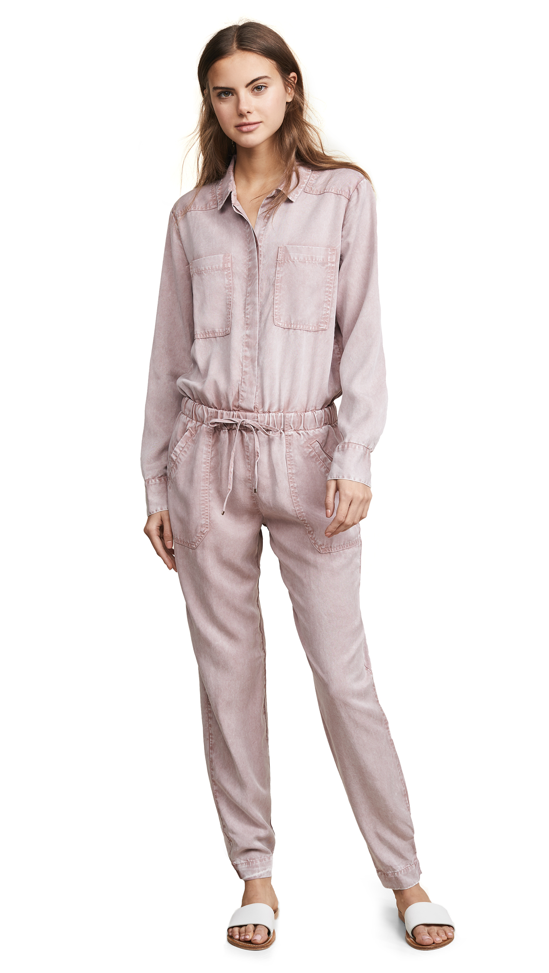 YOUNG FABULOUS & BROKE Everest Jumpsuit in Rosewater