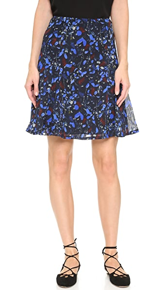 Yigal Azrouel Midnight Ferns Chiffon Skirt