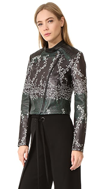 Yigal Azrouel Printed Leather Jacket