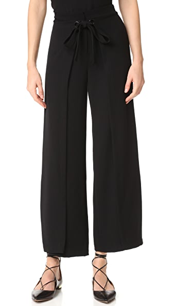 Yigal Azrouel Wide Leg Wrap Pants