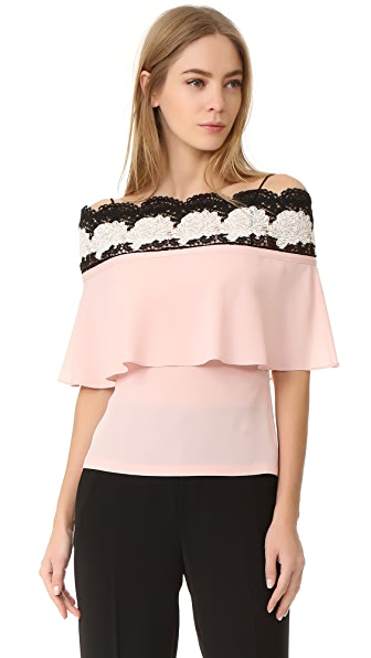 Yigal Azrouel Bare Shoulder Lace Top