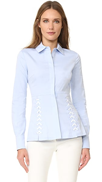 Yigal Azrouel Lace Eyelet Shirt
