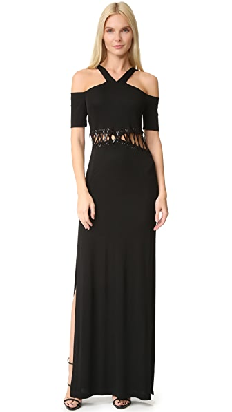 Yigal Azrouel Cold Shoulder Dress - Jet
