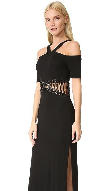 Yigal Azrouel Cold Shoulder Dress