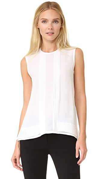 Yigal Azrouel Pleat Trim Tank Top