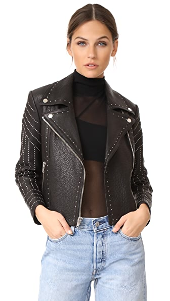 Yigal Azrouel Studded Leather Jacket - Black
