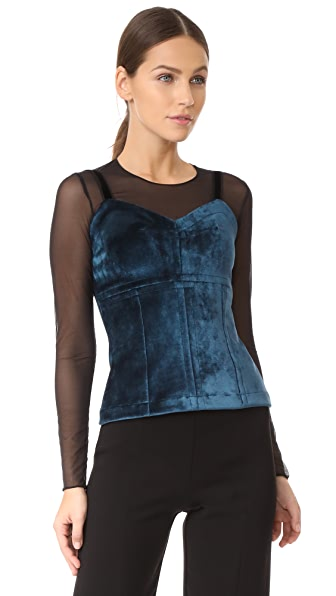 Yigal Azrouel Cami Top - Desert Blue