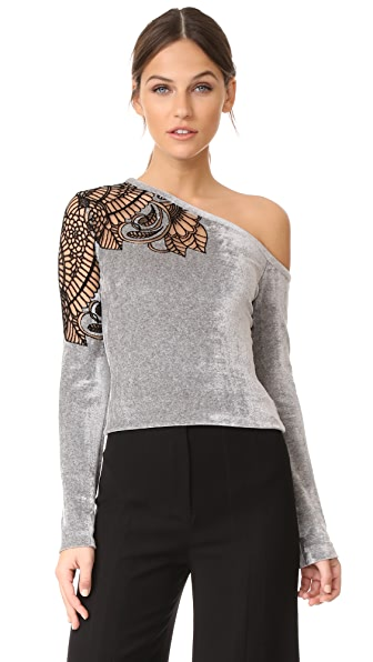 Yigal Azrouel One Shoulder Top - Grey Multi