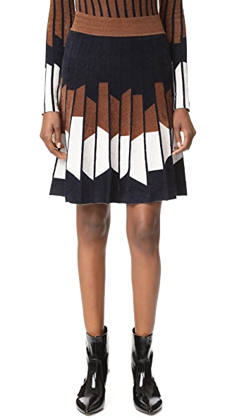 Yigal Azrouel Geometric Pleated Skirt