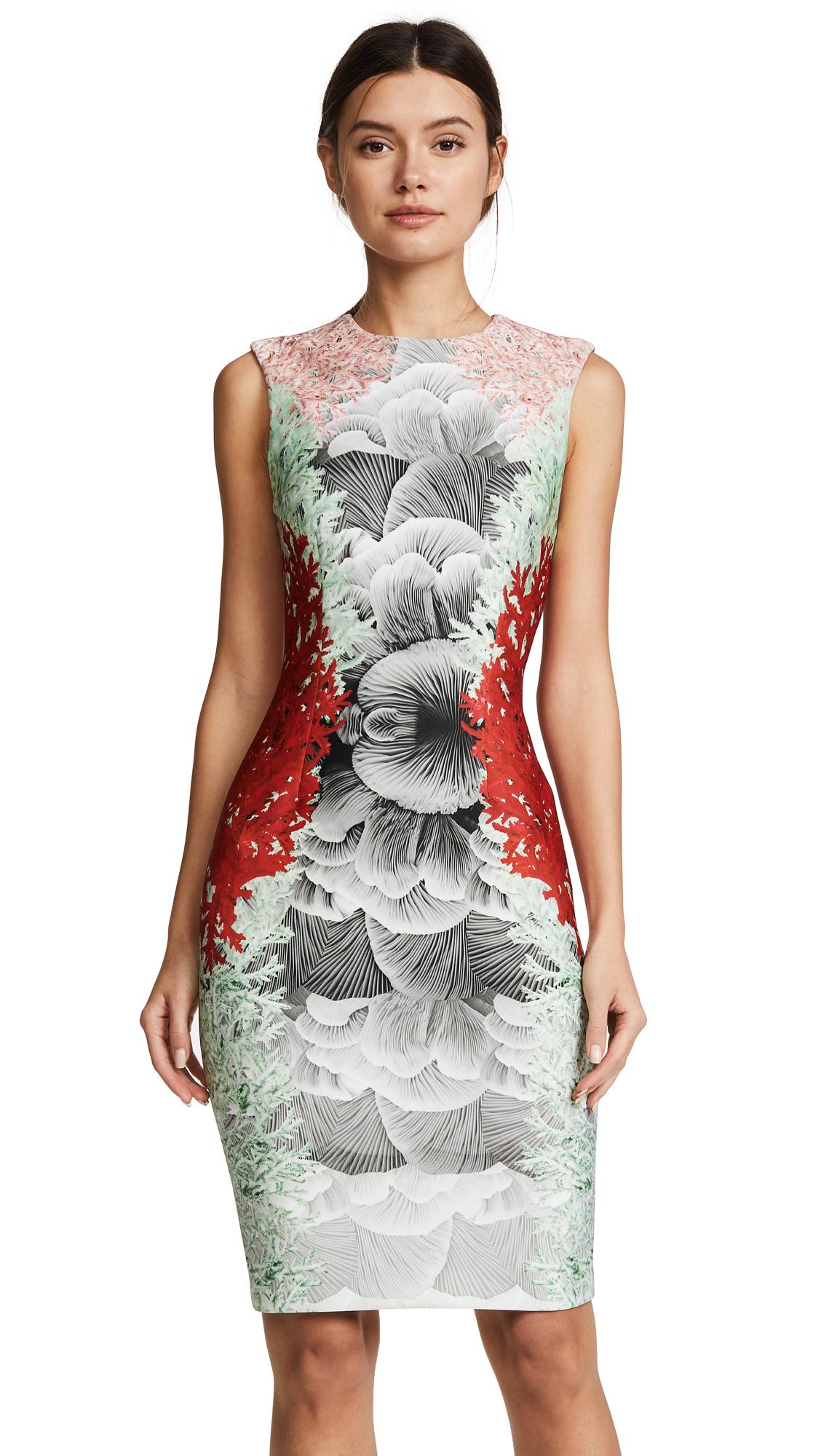 Yigal Azrouel Coral Print Dress