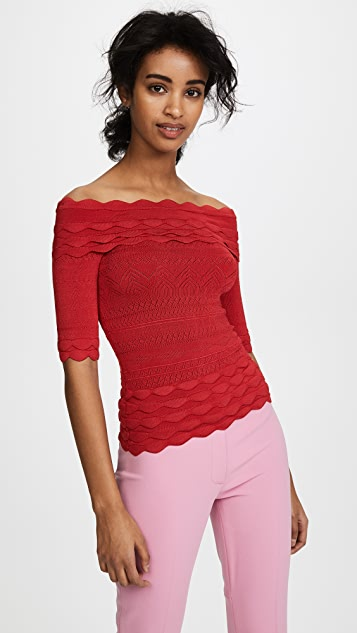 Yigal Azrouel Off the Shoulder Knit Top