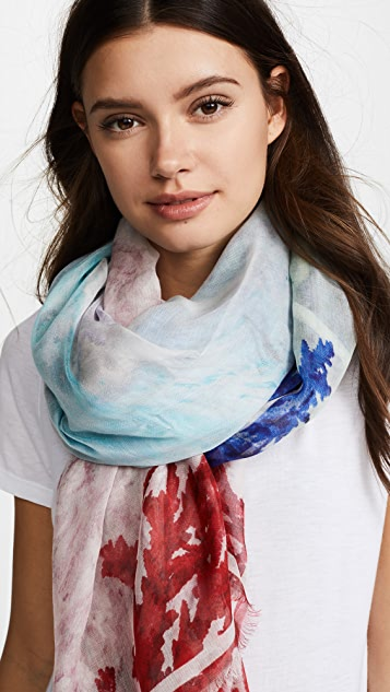 Yigal Azrouel Coral Waves Scarf