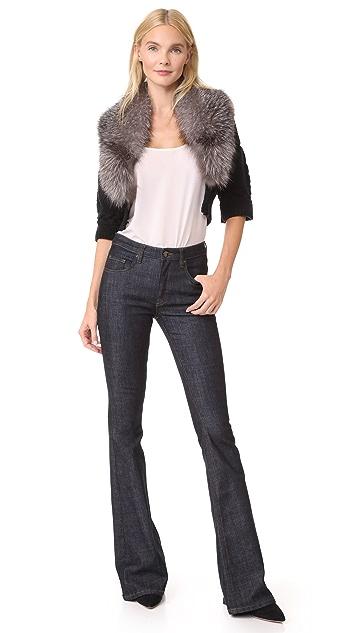Yigal Azrouel Bolero Sweater with Fur