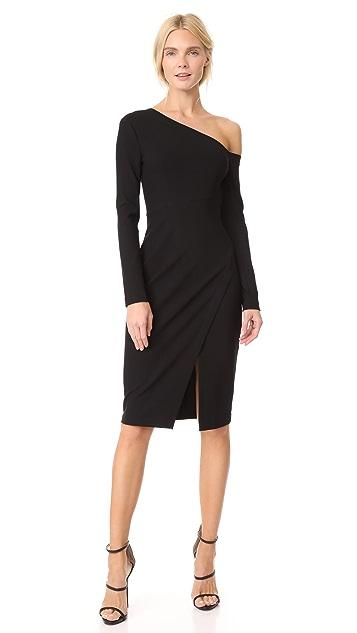 Yigal Azrouel 3/4 Sleeve One Shoulder Dress