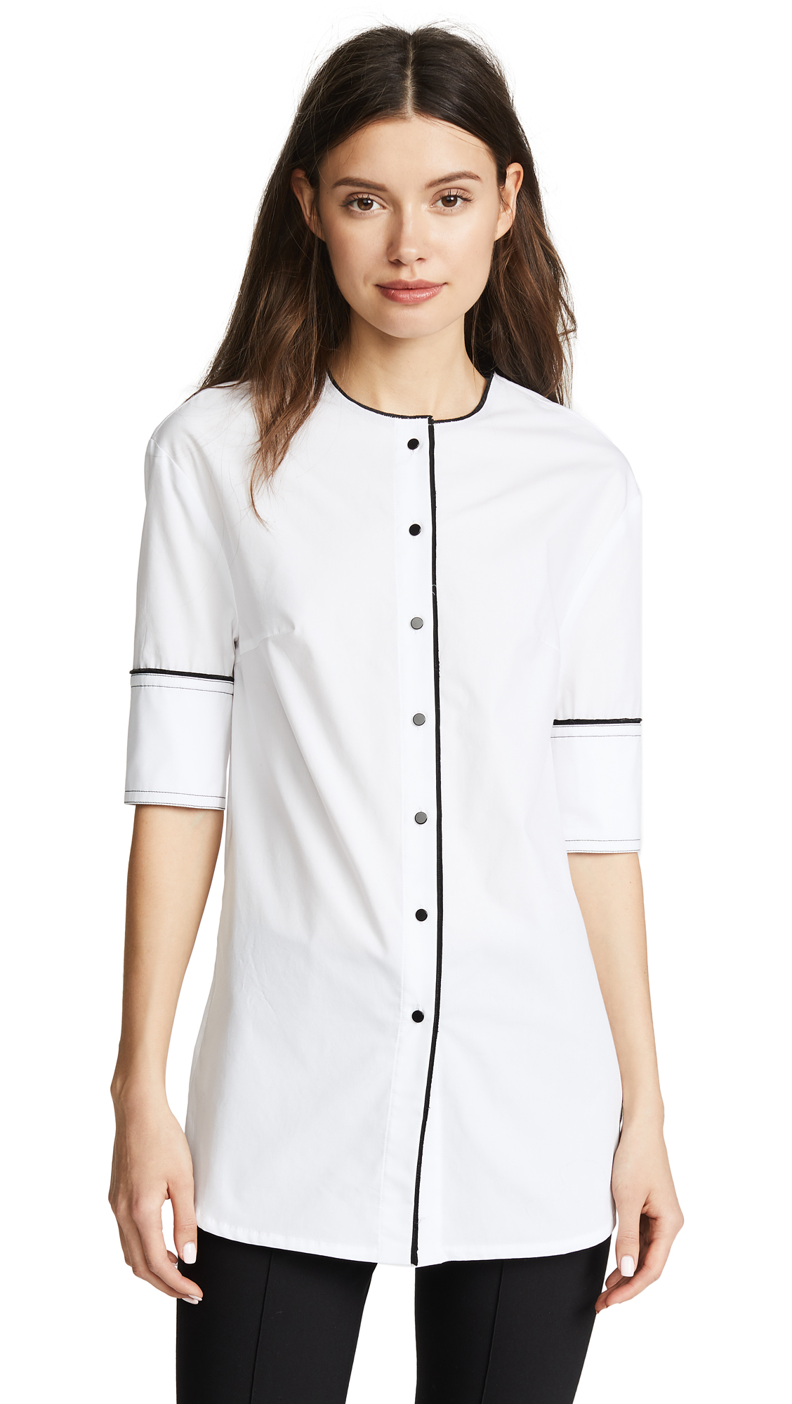 Yigal Azrouel Button Front Shirt In White