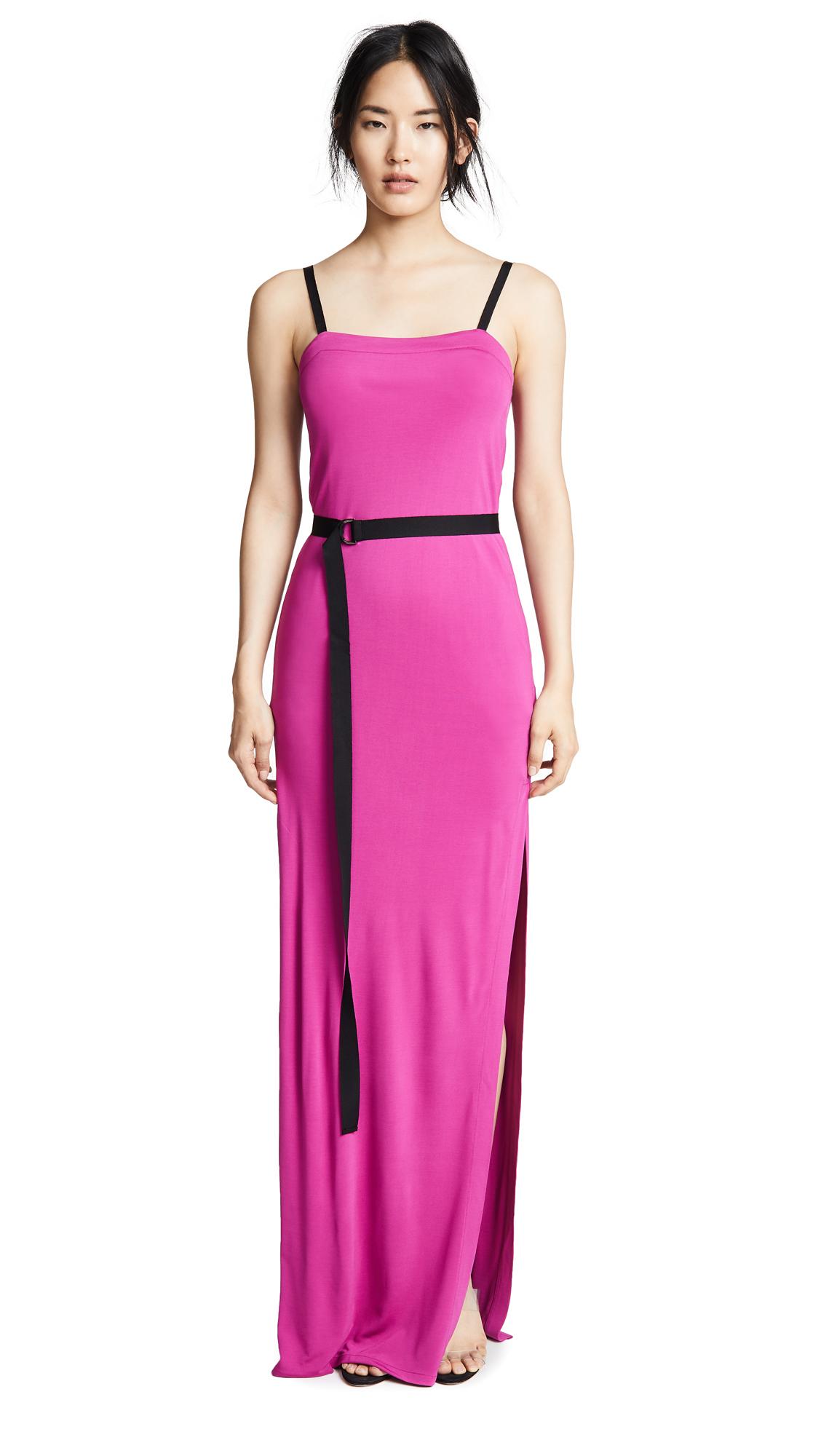Yigal Azrouel Cinched Waist Dress - Hot Pink