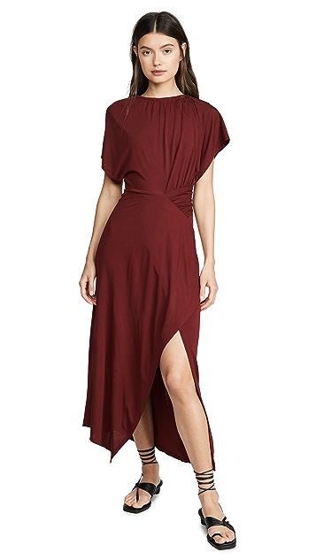 Yigal Azrouel Asymmetric Shirred Dress