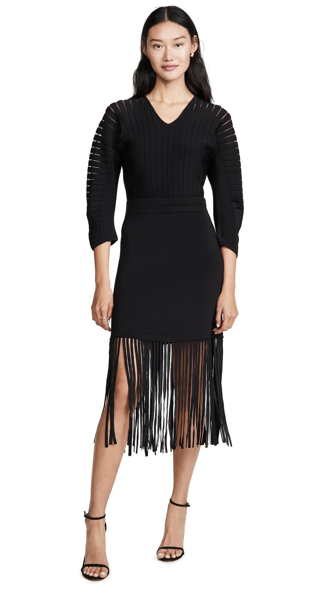 Buy Yigal Azrouel online - photo of Yigal Azrouel Fringe Hem Dress