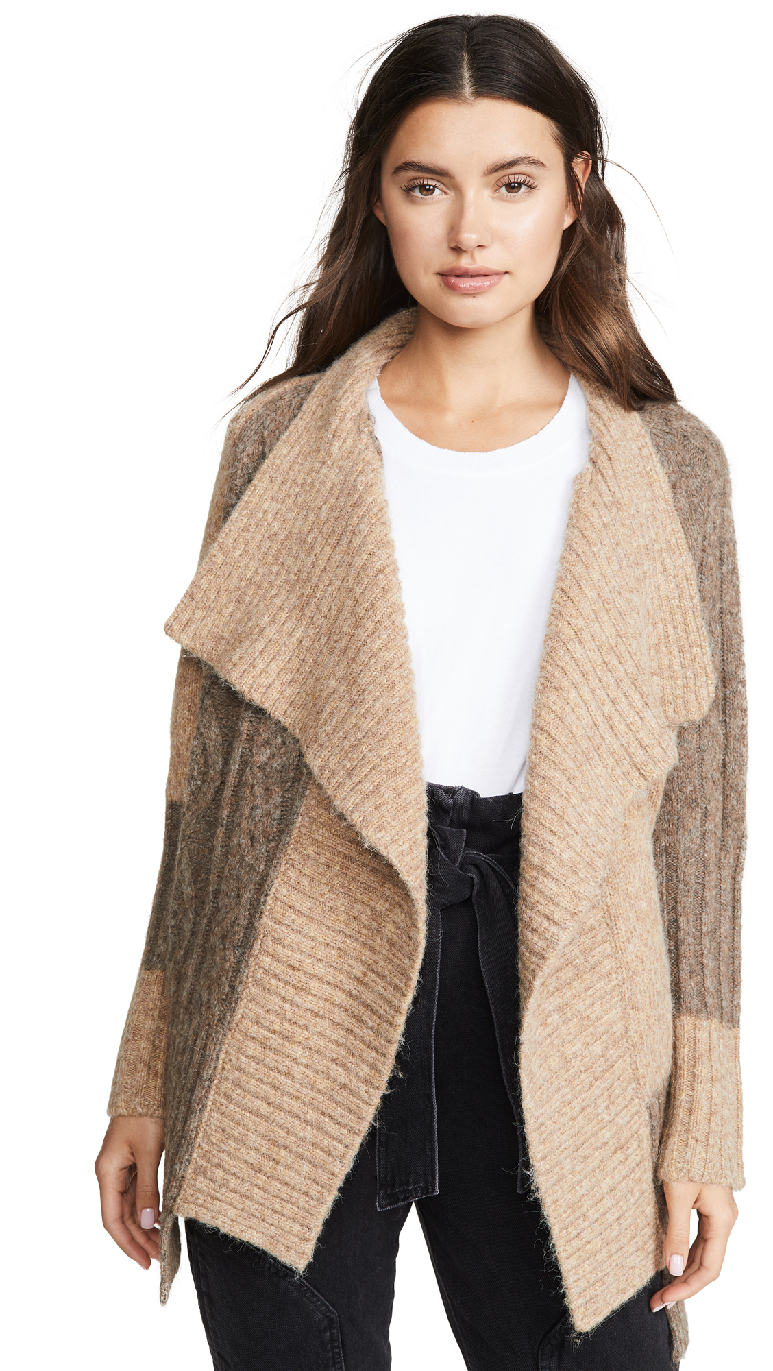Buy Yigal Azrouel online - photo of Yigal Azrouel Two Tone Patch Work Cardigan