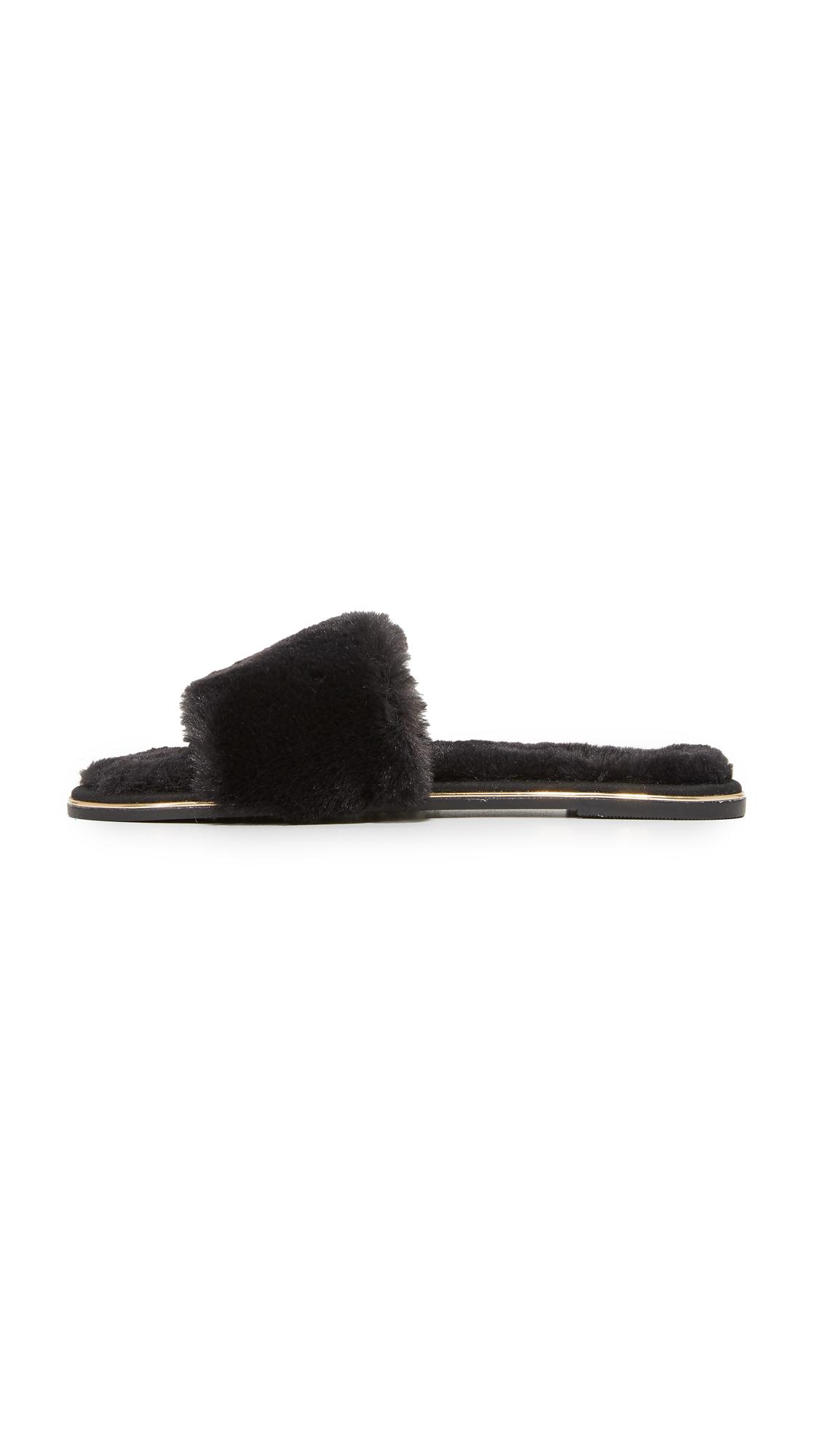 1134e10b4 Yosi Samra Rose Faux Fur Slides