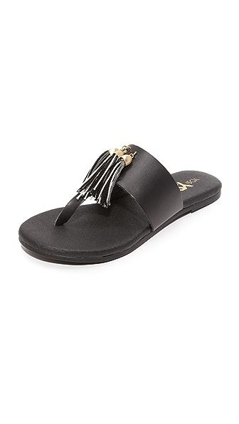 Yosi Samra Rachelle Tassel Thong Sandals