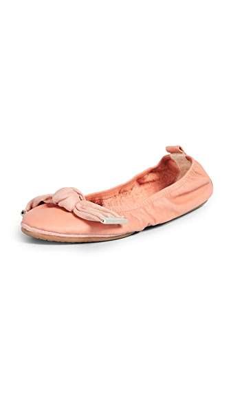 Yosi Samra Stella Knot Ballet Flats In Clay