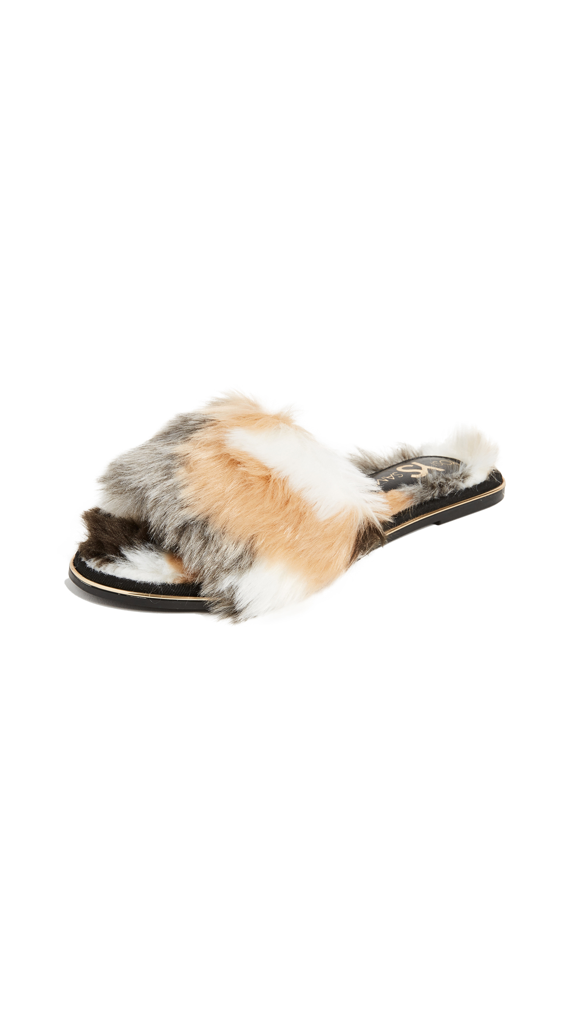 Yosi Samra Rose Slides - Natural/Black
