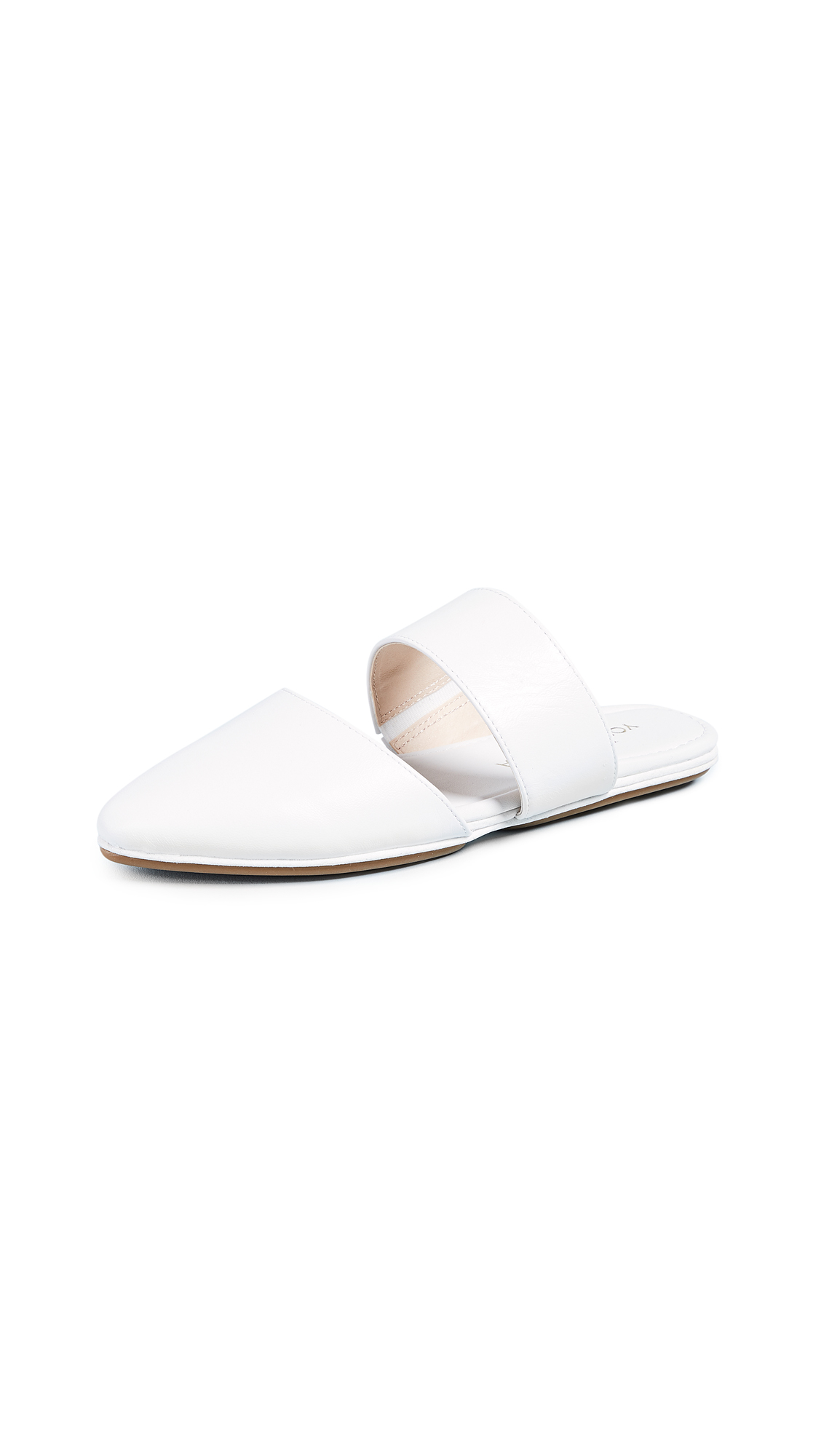 Yosi Samra Vicky Point Toe Mules In White
