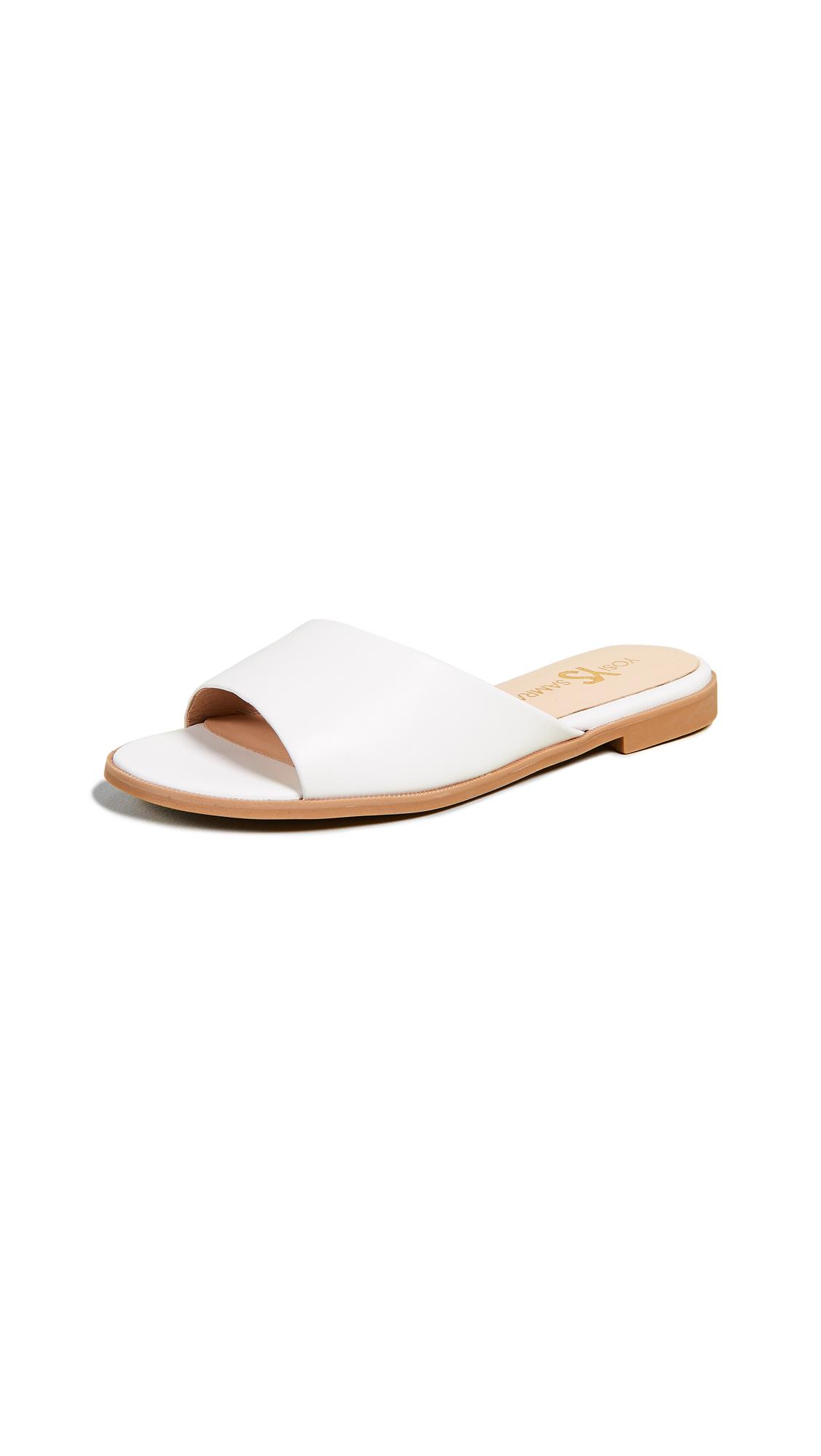 YOSI SAMRA Constantine Open Toe Flats in White