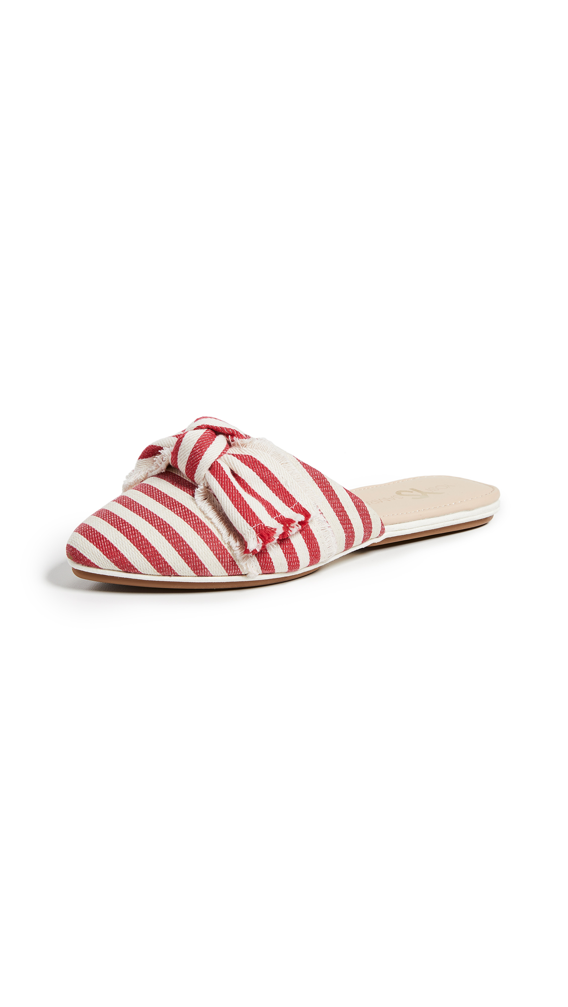 Yosi Samra Vicery Point Toe Flats - Red/Natural