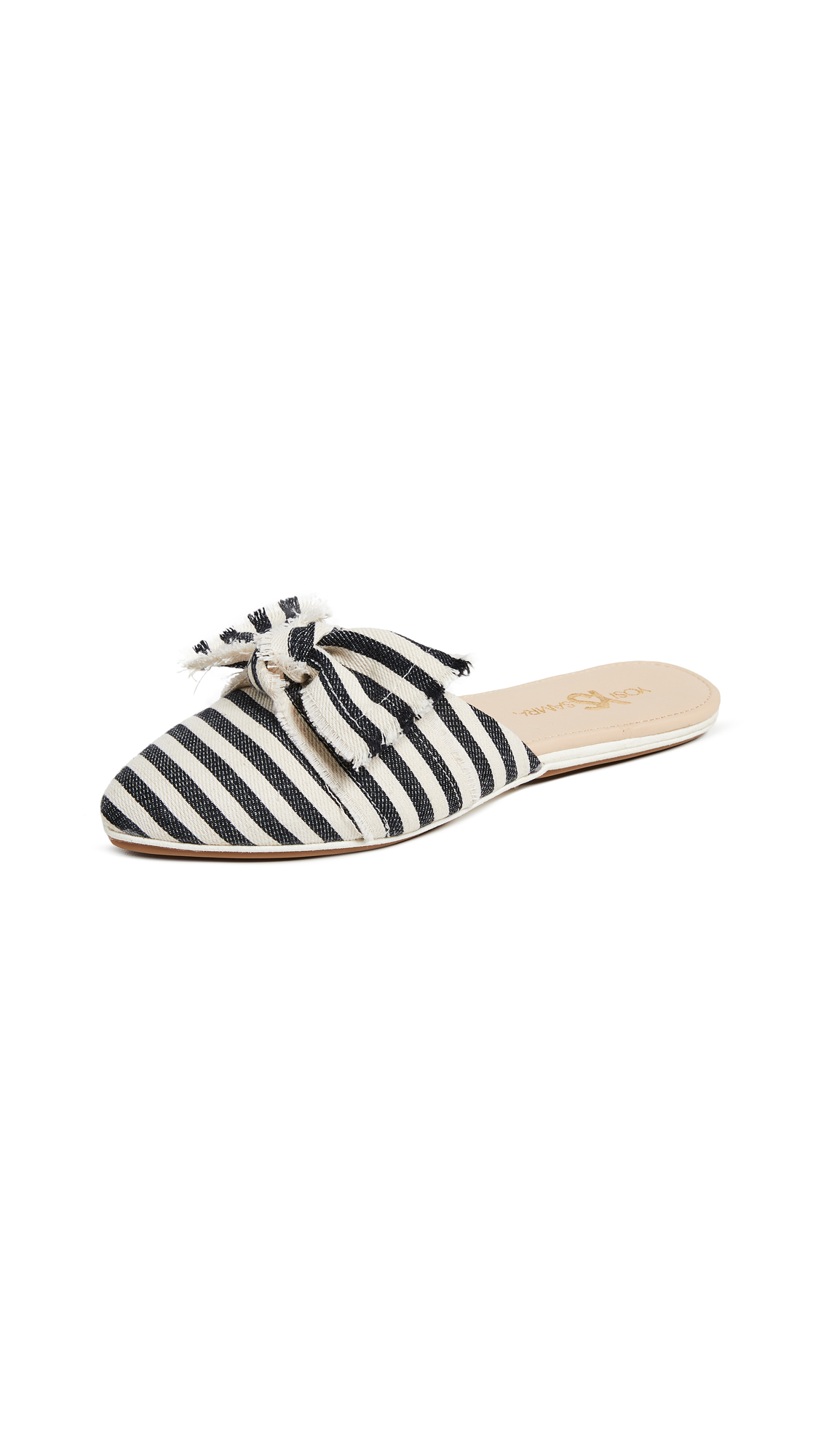 Yosi Samra Vicery Point Toe Flats - Black/Natural