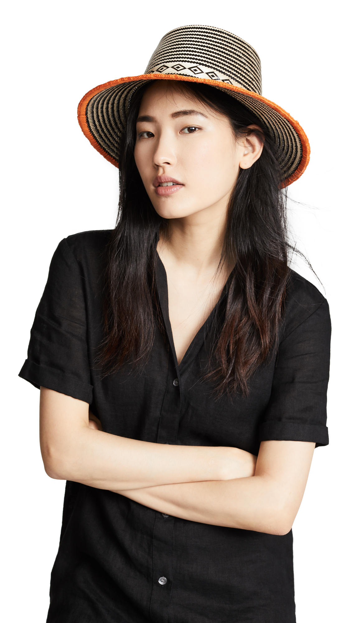 YOSUZI Abela Hat in Orange Multi