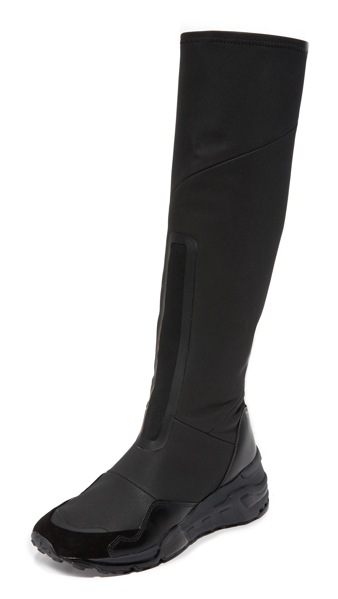 Y-3 Y-3 Wedge Runner Boots - Core Black/Core Black/Carbone