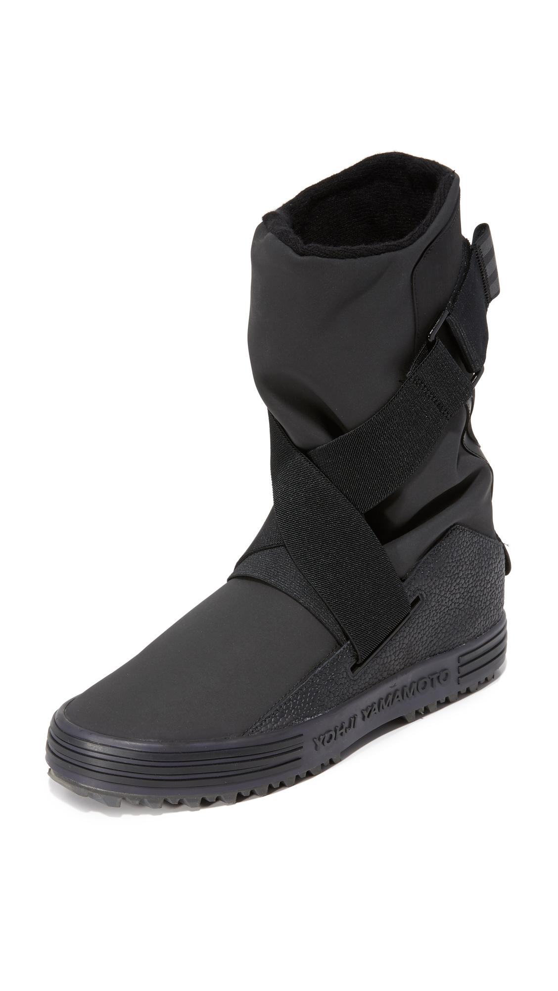Y-3 Y-3 Sno Foxing Strap Boots - Core Black/Core Black/Carbone