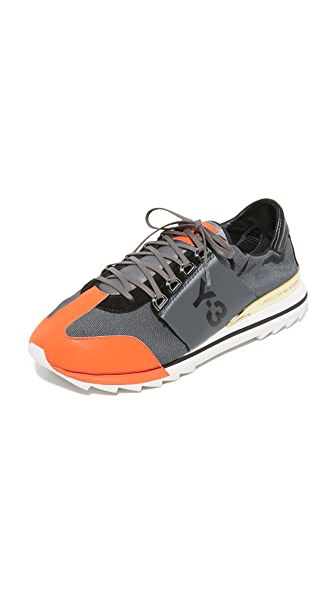 Y-3 Y-3 Rhita Sport Sneakers - Nitght Met/Craft Orange/Black