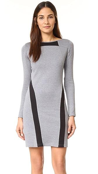 Платье Y-3 из трикотажа двойной вязки