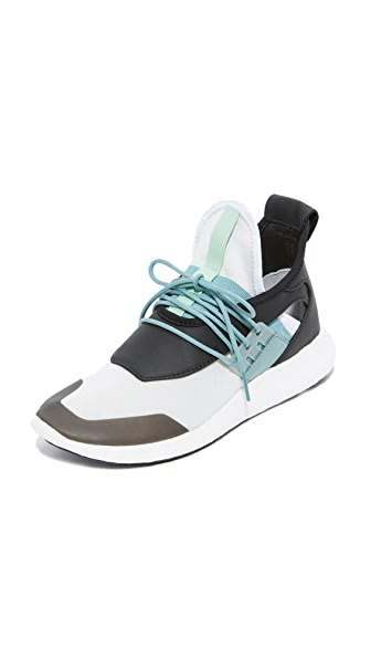 Y-3 Y-3 Elle Run Boost Sneakers - Vapour Steel/Black/Blush Green