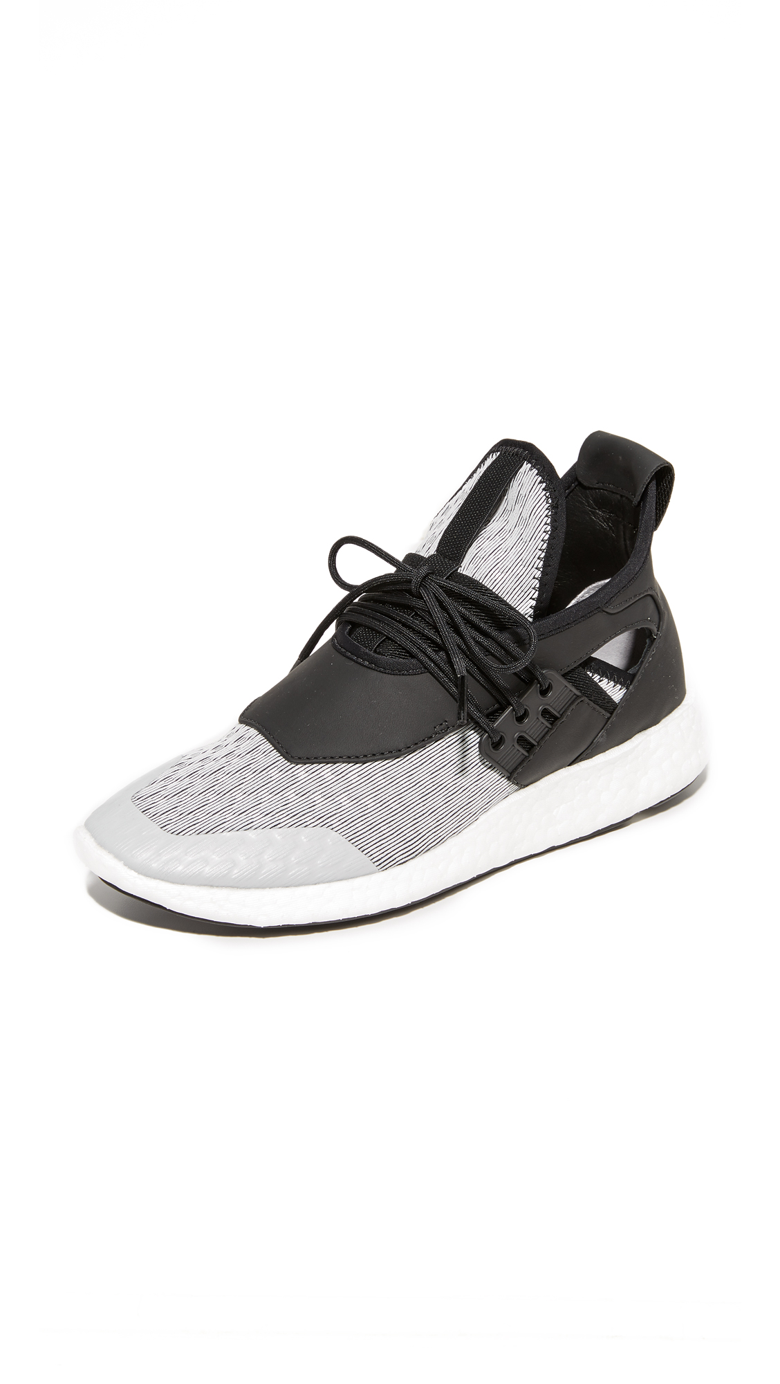 Y-3 Y-3 Elle Run Sneakers - Sheer Grey/Core Black