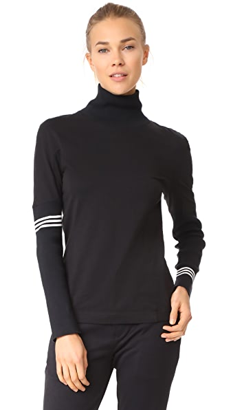 Y-3 Y-3 Long Sleeve Graphic Top - Black