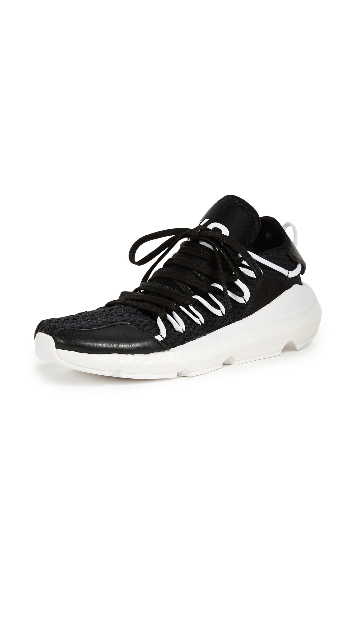 Y-3 Kusari Sneakers - Black/White/White