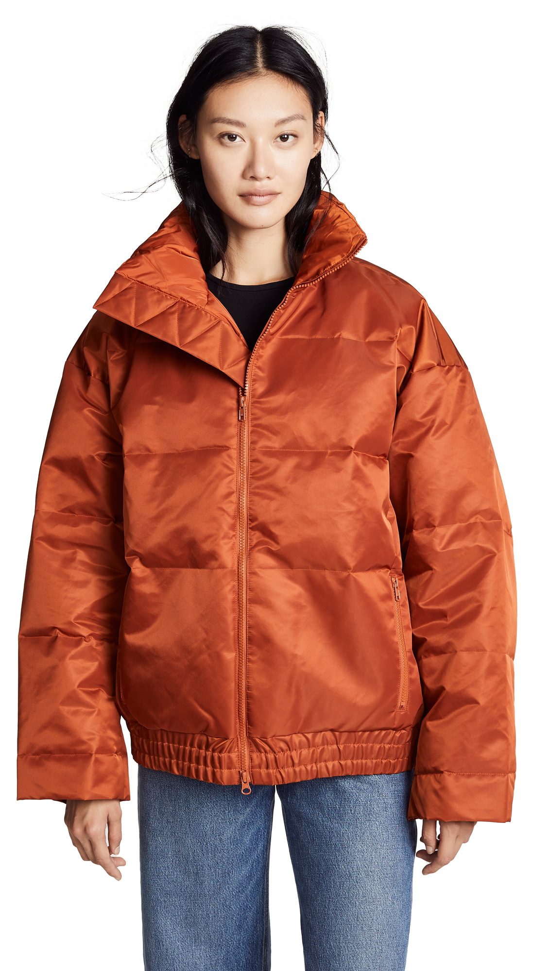 Y-3 Hooded Down Jacket In Fox Red