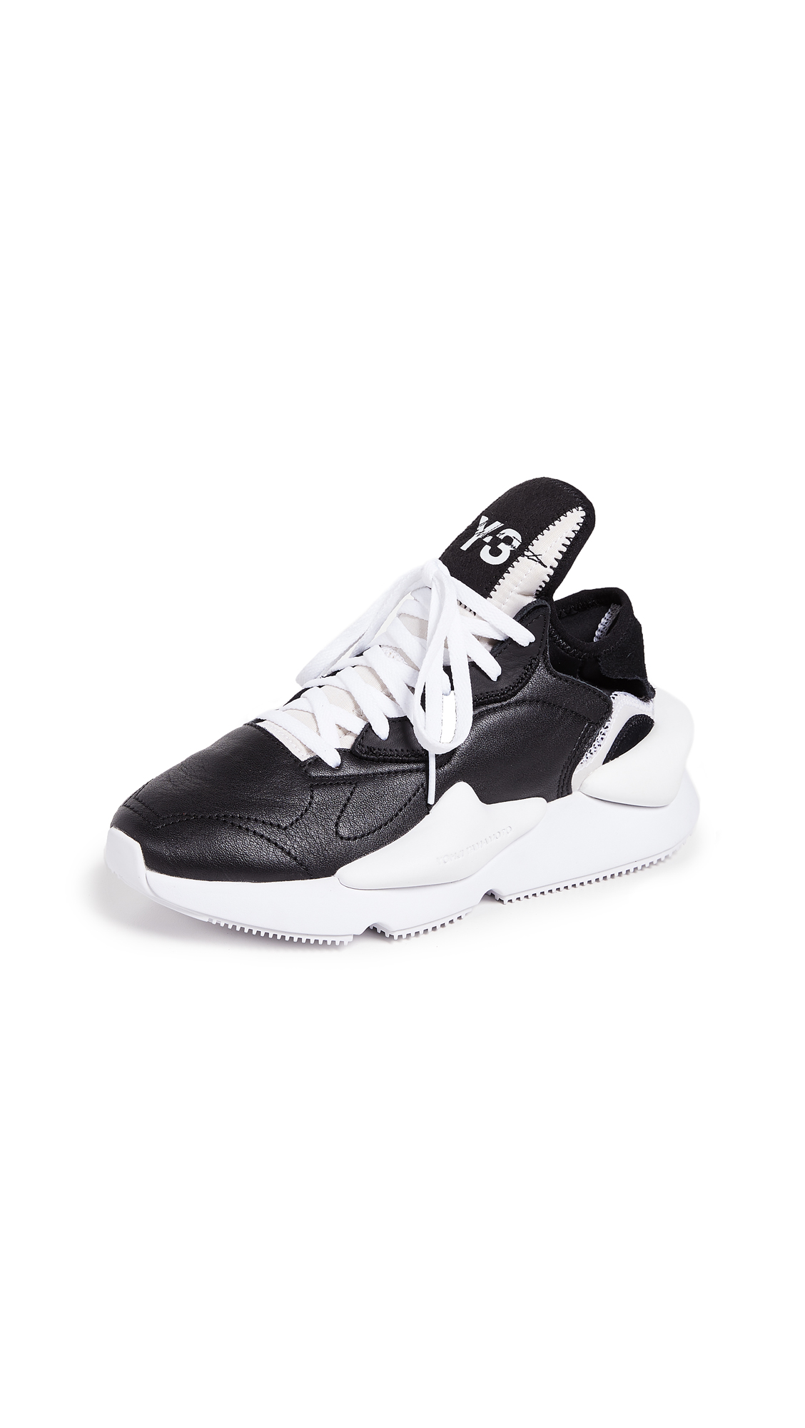 Y-3 Y-3 Kaiwa Sneakers In Black/White