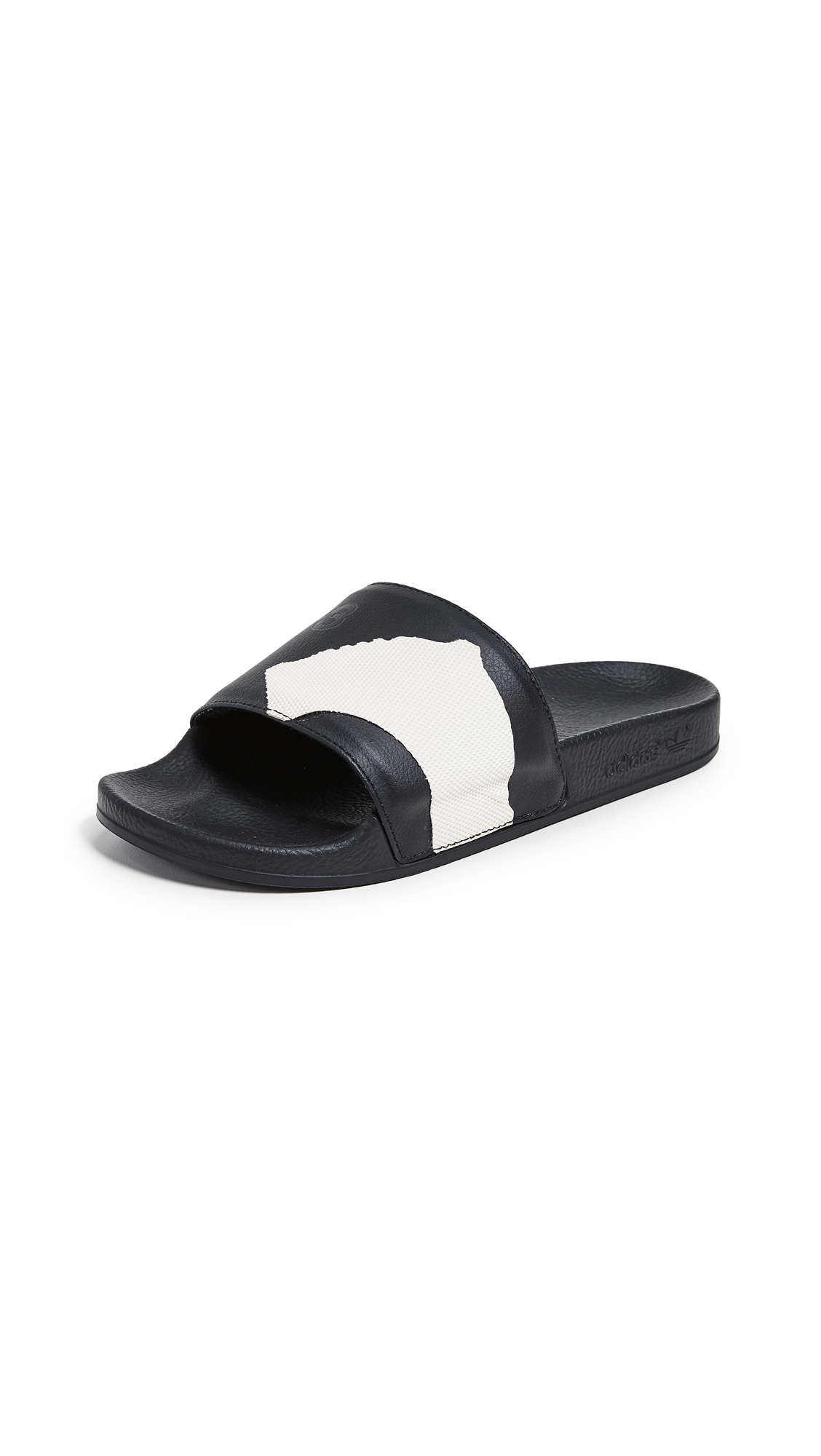 Y-3 Y-3 Adilette Slides - Core Black/Black/White