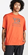 Y-3 Short Sleeve Stacked Logo Tee
