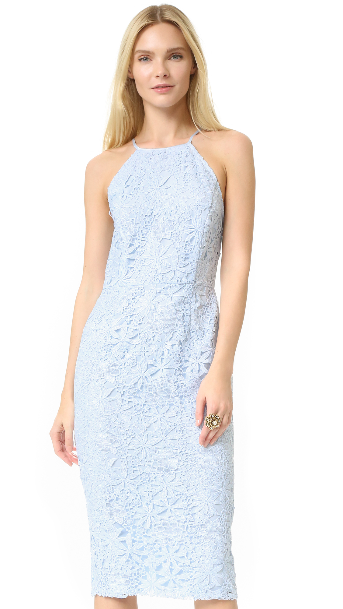 Yumi Kim Save The Date Lace Dress - Baby Blue