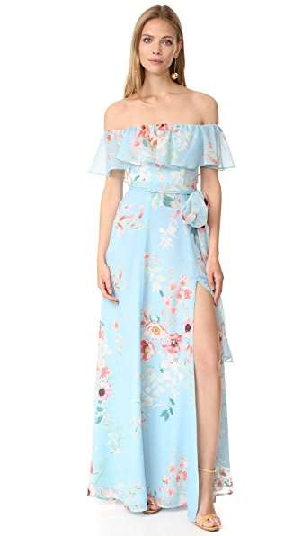 Yumi Kim Carmen Maxi Dress In Monte Carlo