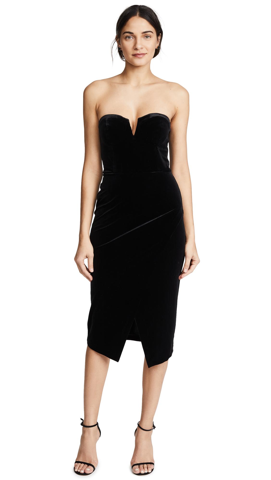 Yumi Kim Velour Allure Dress - Black