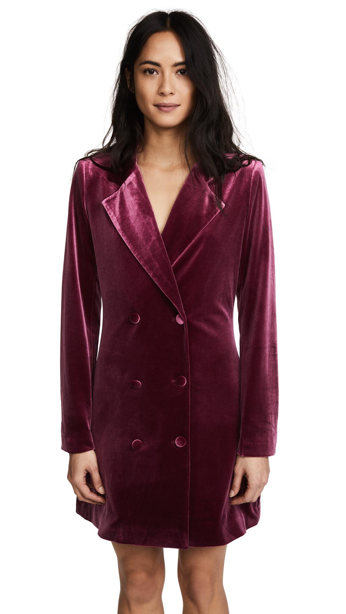Yumi Kim Suit Up Dress - Burgundy