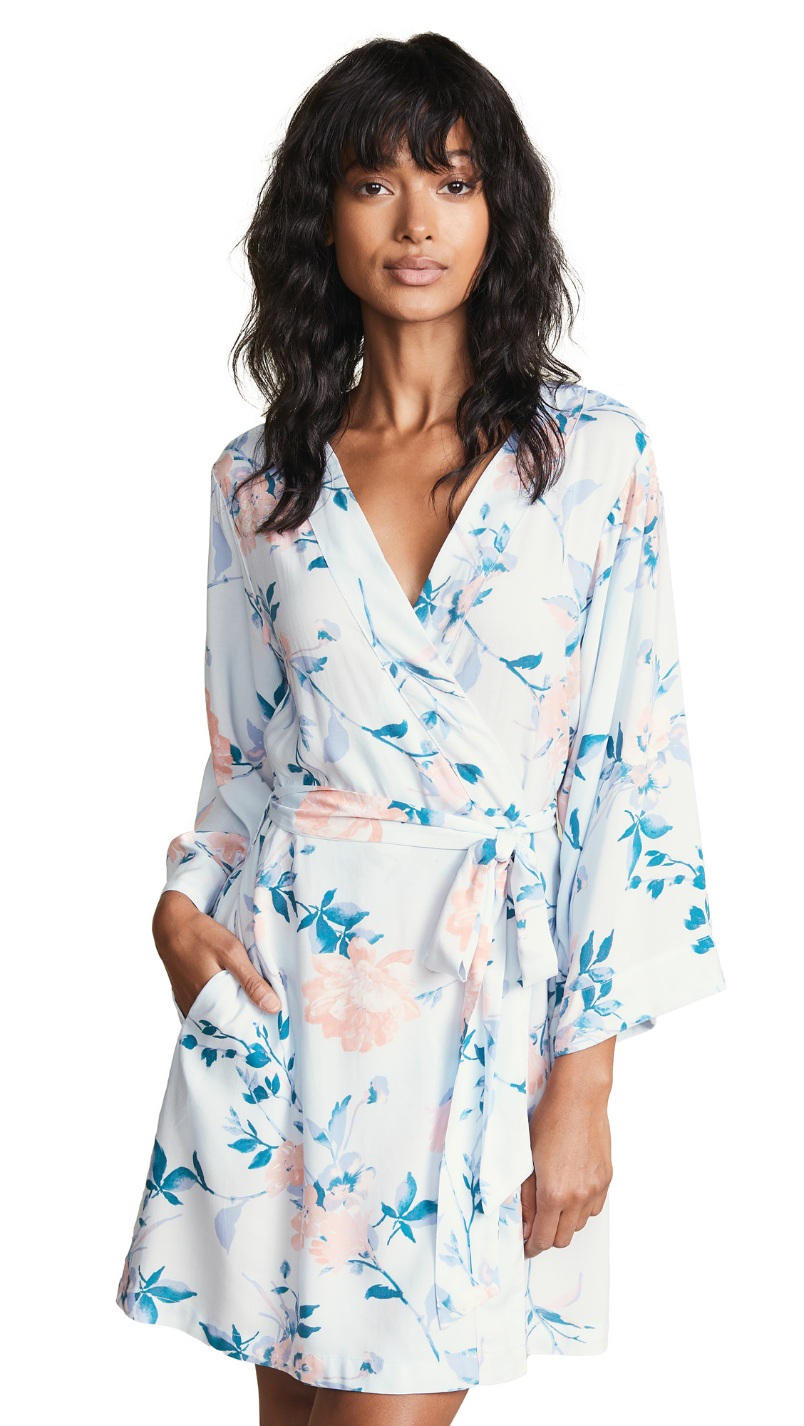 YUMI KIM Dream Lover Robe in Sky Blue